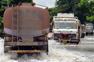Flooded Road Affect Transportation System