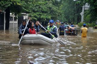 Flood In Jakarta Indonesia