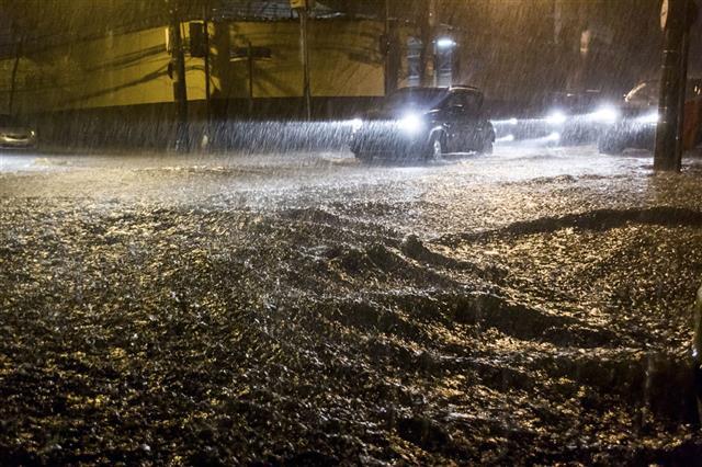 Flood On Streets Of Rio De Janeiro