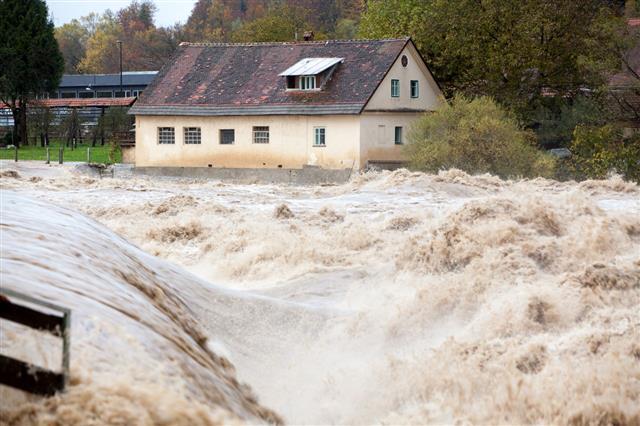 House In Danger Of Floods