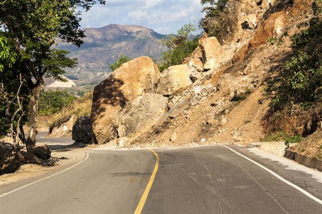 Landslide In The Roadway