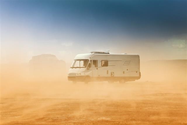 Camper In A Sandstorm