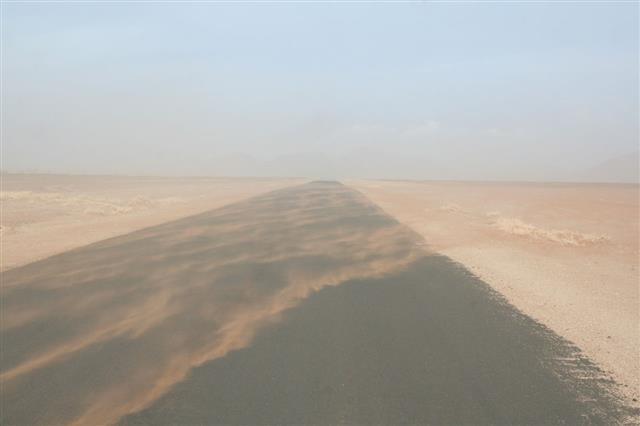 Sandstorm In Namib Desert