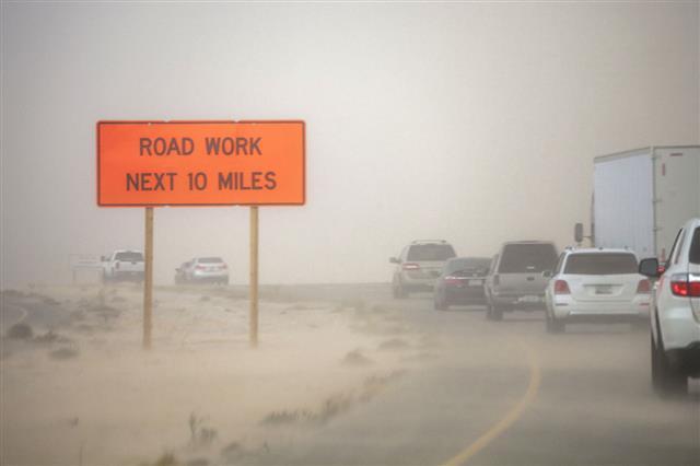 Road Through Desert Storm