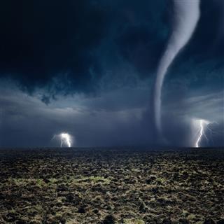 Tornado Lightning Farmland