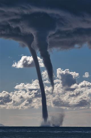 Tornadoes Over The Mediterranean Sea