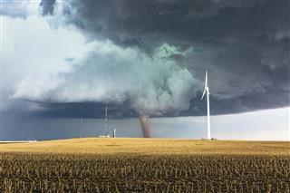Tornado With Wind Generator