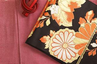 Kimono And Obi And Banding Embroidery