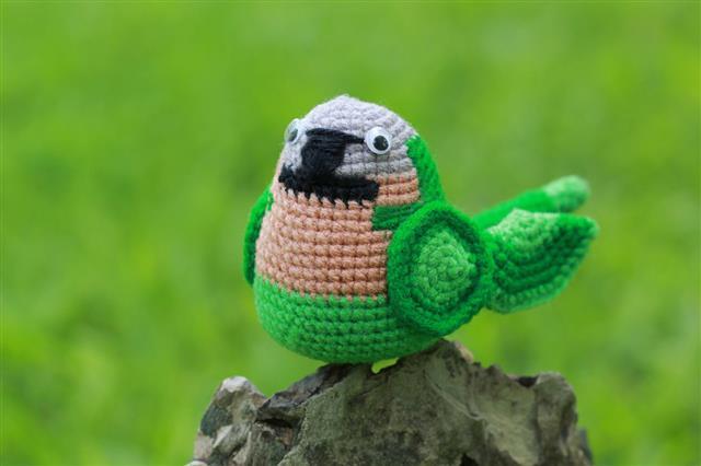 Handmade Crochet Parrot