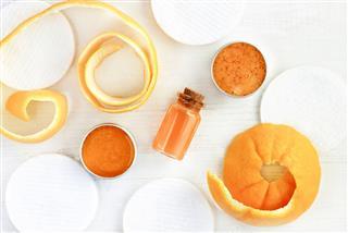 Orange Fruit Peel Facial Scrub