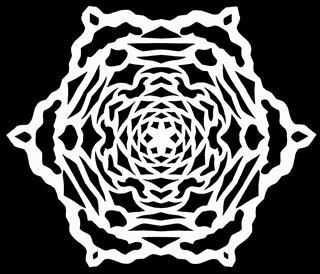 Snowflake On Black Paper