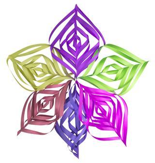 Christmas Colorful Paper Snowflake