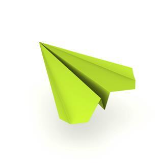 Green Paper Plane