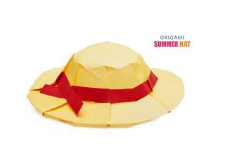 Origami Straw Hat