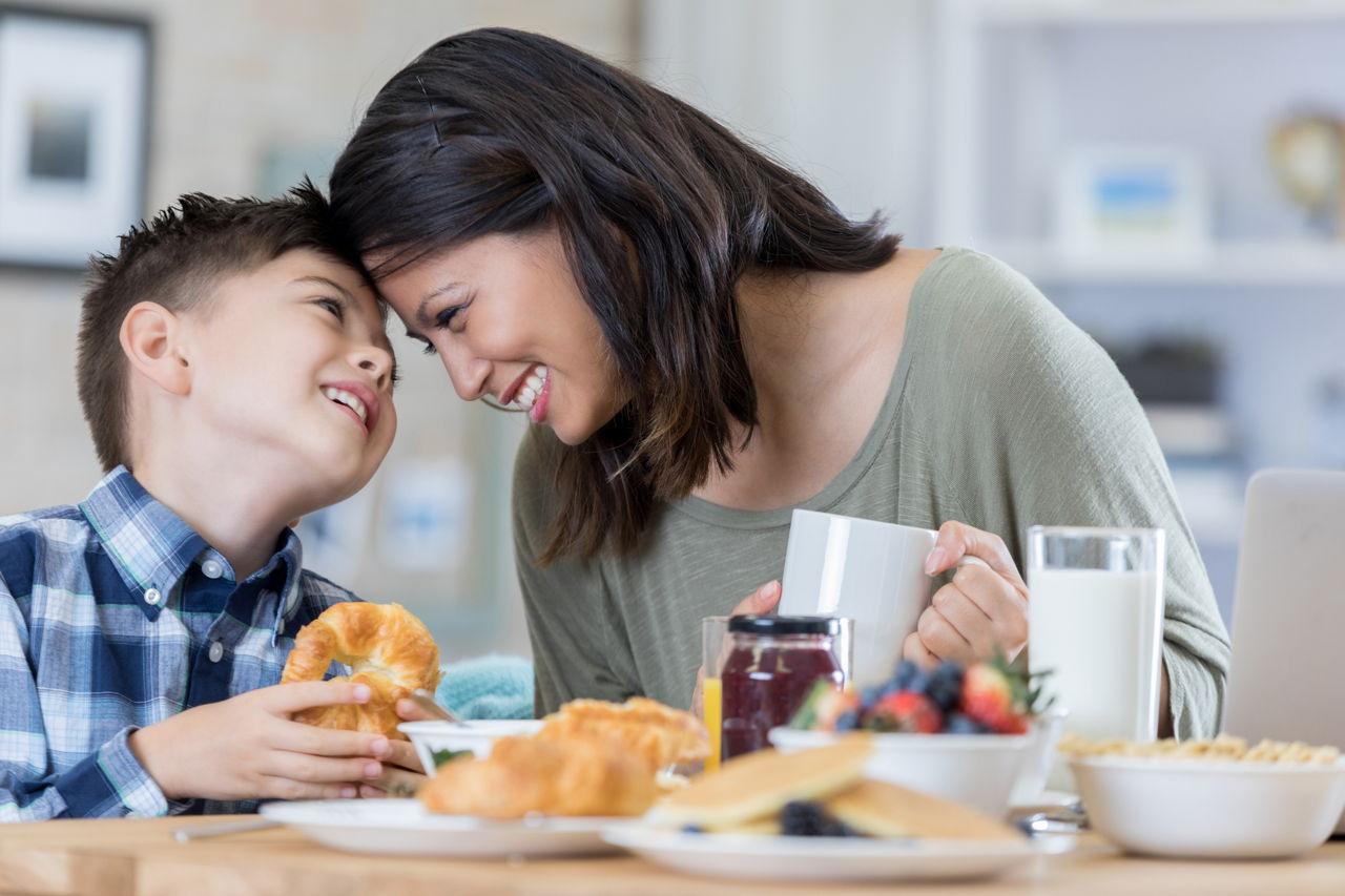 mom son breakfast sex image