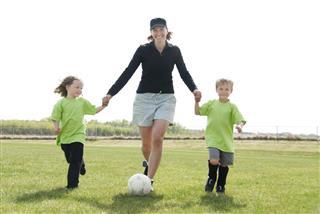 Mom Playing Soccer