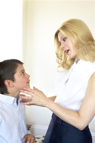 Mother Reprimanding Son