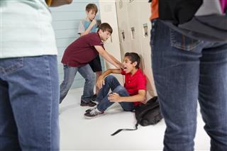 Teenage Boys Bully Classmate