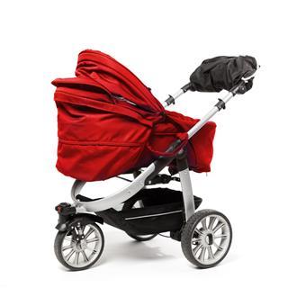 Red Baby Stroller