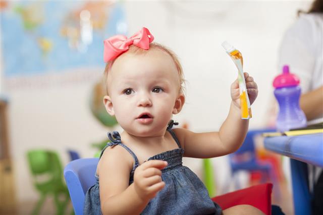 Little Toddler Girl Playing