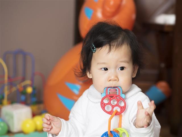 Baby Girl Bite Teething Ring