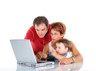 Dad, Grandma and baby