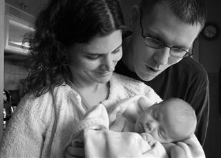 Couple with newborn