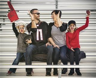 Family Football Fans