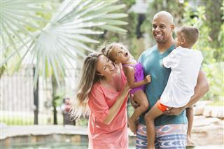 Family at Resort Swimming Pool