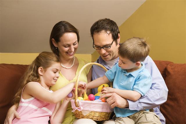 Looking Through An Easter Basket