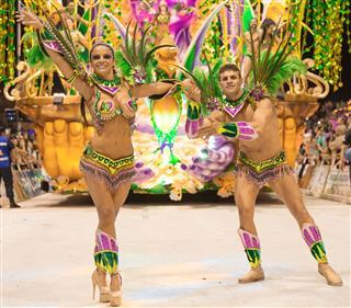 Argentina Gualeguaychu Couple Samba Dancer