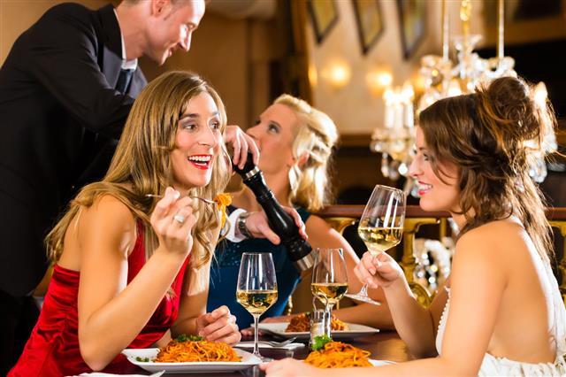 Dinner In Fine Restaurant