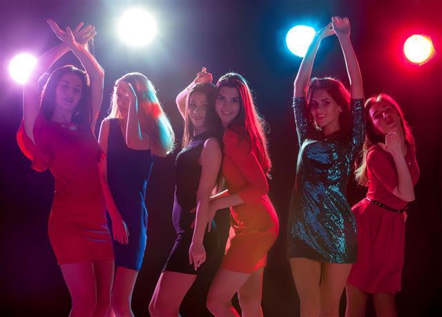 Beautiful Girls Dancing At Party
