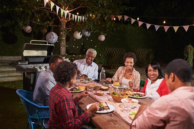 Family Enjoying Dinner Together