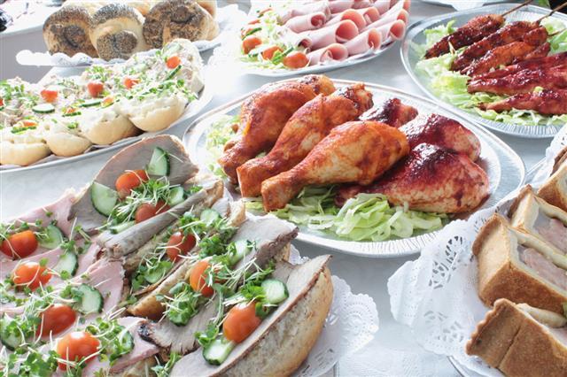 Buffet Food Table