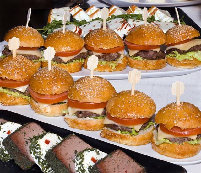 Mini Burgers In A Row