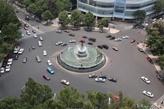 La Diana Fountain In Mexico City Mexico