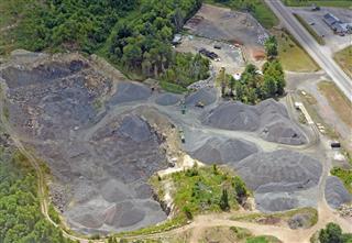 Sand Quarry Aerial