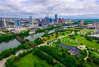 Aerial Over Austin Texas