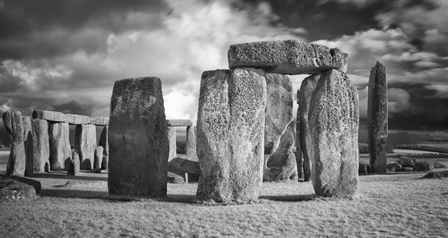 Stonehenge In Black White