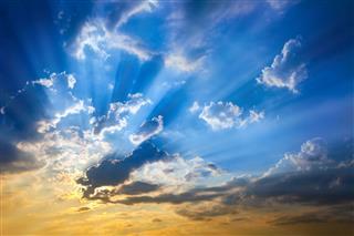 Sky With Sun Beams