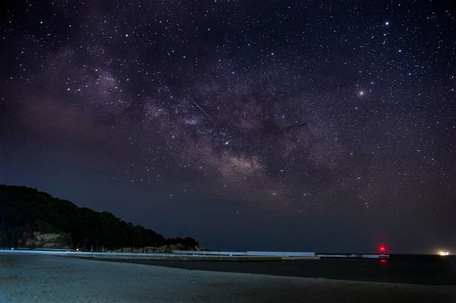 Milky Way Above Ocean Starry Night