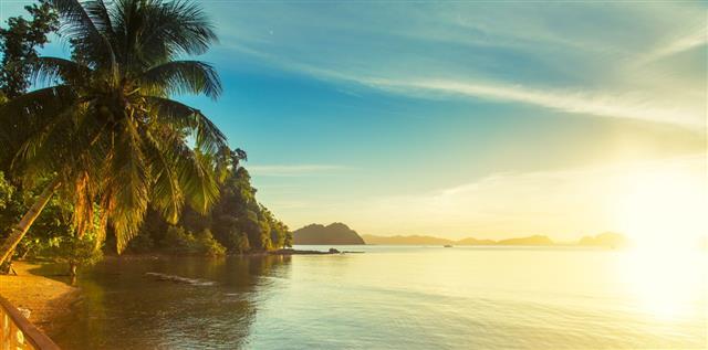 Sunset In El Nido Philippines