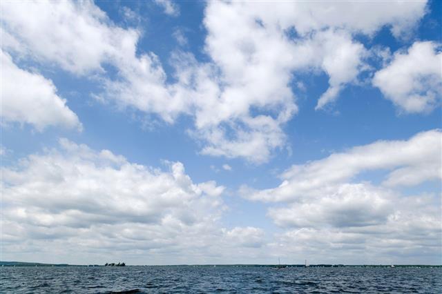 Majestic Cloudscape Blue Sky White Clouds