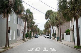 Urban Street Of Charleston Usa