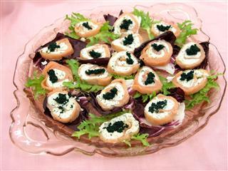 Salmon With Caviar