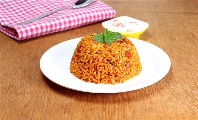 Indian Food Rice Pilaf