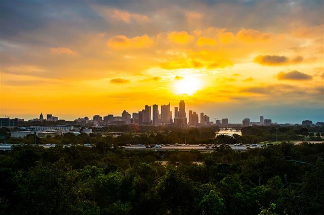 Sunrise Solar Flare Of Austin Texas