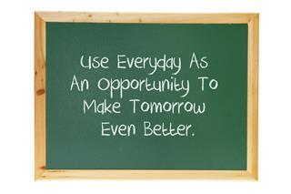 Blackboard with Inspiration