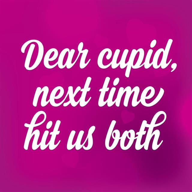 Valentine's Day poster.Love quote
